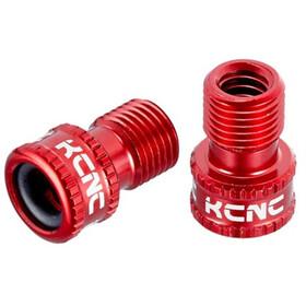 KCNC Presta-Schrader AV-SV Valve Adapter red